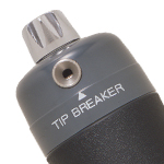 The built-in tip breaker incorporates a diamond edge for maximum durability that cuts the surface of the detector tube.